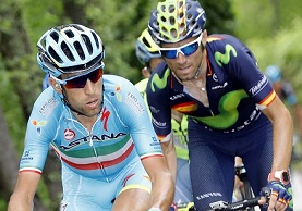 Nibali attacca, Valverde lo segue a ruota @ Bettiniphoto
